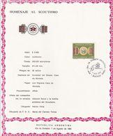 HOMENAJE AL SCOUTISMO, SCOUT SCULTISME. ARGENTINE FDC ANNEE 1982. SERIE COMPLETE -LILHU - Scoutisme