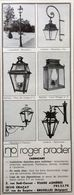 PUB 1973 Lampadaires Lanternes Pradier Graçay Cher 18 - Menus