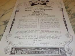ANCIENNE PUBLICITE BROSSE A DENT DENTCLAIR  1925 - Posters