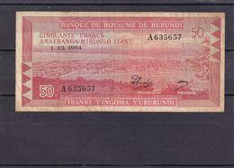 Burundi 50 Fr 1964 Fine  Rare - Burundi