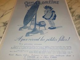 ANCIENNE PUBLICITE UNE CREME ET POUDRE FLOREINE  1925 - Perfume & Beauty