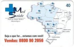 BRASIL M-607 Magnetic BrasilTelecom - Map, Brasil - Used - Brésil