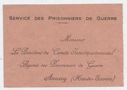 Guerre De 14, Prisonnier  Guerre, Accusé Réception Paquet, Colis, Foix, Préfecture;Agence Des Prisonniers Guerre, Annecy - Documents Historiques