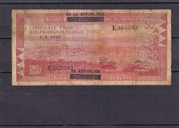 Burundi 50 Fr 1965   Rare Overprint - Burundi