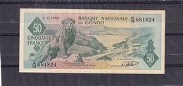 Congo Kongo Ex Belgian  50 Fr 1962 AU - Democratische Republiek Congo & Zaire