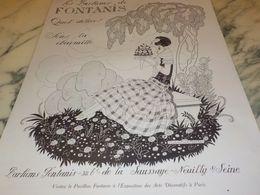 ANCIENNE PUBLICITE QUEL DELICE PARFUM  DE FONTANIS  1925 - Perfume & Beauty