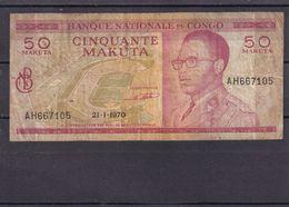 Congo Kongo  50 Makuta 1970  VG - Democratische Republiek Congo & Zaire
