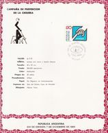 CAMPAÑA DE PREVENCION DE LA CEGUERA. BLINDNESS CECITE. ARGENTINE FDC ANNEE 1985. SERIE COMPLETE -LILHU - Disease