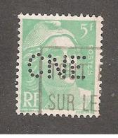 Perforé/perfin/lochung France No 809 CNE Comptoir National D'Escompte (310) - France