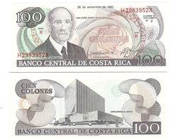 Costa Rica - 100 Colones 1993 P. 261a UNC Lemberg-Zp - Costa Rica