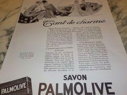 ANCIENNE PUBLICITE SAVON PALMOLIVE TANT DE CHARME 1925 - Perfume & Beauty