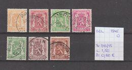 België 1945 - Yv./OCB 710/15 Gest./obl./used - Belgium