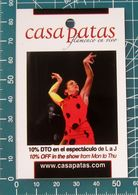 Pubblicità Minicards CASA PATAS Flamenco En Vivo Madrid  SPAGNA - Altri