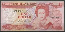 Ostkaribische Staaten 1 Dollar (1985-87) Suffix D, KM 17 D Kassenfrisch (K430) - Caraibi Orientale