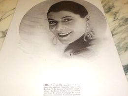ANCIENNE PUBLICITE SAVON CADUM MLLE SPINELLY NOUS DIT 1925 - Posters