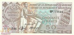BURUNDI 50 FRANCS 1993 PICK 28c UNC - Burundi