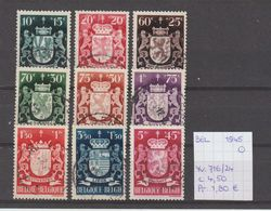 België 1945 - Yv./OCB 716/24 Gest./obl./used - Belgium