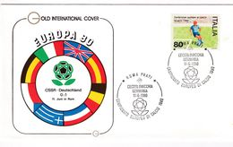Italy 1980 Cover: Football Soccer Fussball Calcio: UEFA EURO European Championship; Czechoslovakia - Germany Roma Prati - UEFA European Championship