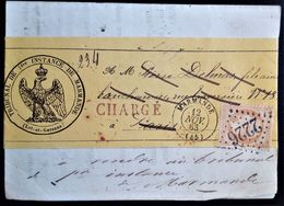 390 FRANCE MARMANDE NAPOLEON III 1863 REGISTERED CHARGE REEXPEDITION SEE PICTURES - 1863-1870 Napoleon III With Laurels