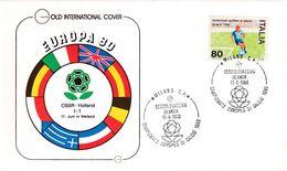 Italy 1980 Cover: Football Soccer Fussball Calcio: UEFA EURO European Championship; Milano: Czechoslovakia - Holland - UEFA European Championship