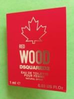 DSQUARED2 - RED WOOD - Echantillon - Parfums - Stalen
