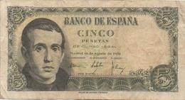 Espagne : 5 Pesetas 1951 (moyen état) - [ 3] 1936-1975 : Regime Di Franco