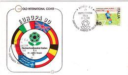 Italy 1980 Cover: Football Soccer Fussball Calcio: UEFA EURO European Championship; Czechoslovakia - Italy Napoli; Flags - UEFA European Championship