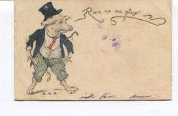 CPA - Illustrateur D K V - Rien Ne Va Plus - Cochon Ruiné Aux Jeux - Circulée  - - Cochons