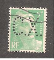 Perforé/perfin/lochung France No 809 C.X. Sté Des Mines De Carmaux Houillères Aquitaine - France