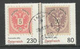 Oostenrijk 2019, Mi 3468-69 Uit Blok 105, Samenhangend   Hoge Waarde, Gestempeld - 2011-... Gebraucht