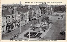 Antwerpen - Anvers -  Vue Sur Le Monument Peter Benoit  Et  Théatre Flamand - Antwerpen
