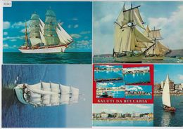 4 AK Segelschiffe, Segelschulschiff Gorch Fock, L'Etoile - Voiliers