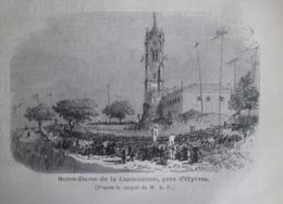 Gravure 1873  HYERES     Notre Dame  De La Consolation Pres De Hyeres - Hyeres