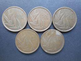 Belgium 20 Francs 1980-1982 (Lot Of 5 Coins) (KM# 160) - 1951-1993: Baudouin I