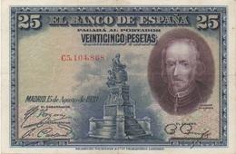 Espagne : 25 Pesetas 1928 (très Bon état) - [ 1] …-1931 : Premiers Billets (Banco De España)