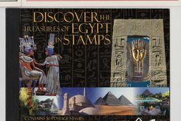 EGYPTE Carnet: Trésors égyptiens Par Les Timbres. Discover The Treasures Of EGYP IN STAMPS. 30 Valeurs,1 En Or 22 Carats - Blocs-feuillets