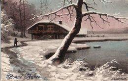 A Bertiglia - Bords De Lac Neige (5735) Bonne Année Couleur - Bertiglia, A.