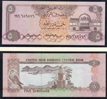 V. A. EMIRATE - EMIRATES - 5 Dirhams (1982) UNC Pick 7    (19232 - Bankbiljetten