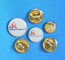 3 PIN'S //  ** F.F. HANDBALL / FÉDÉRATION FRANÇAISE DE HANDBALL ** - Pallamano