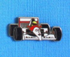1 PIN'S //  ** HONDA MARLBORO Mc LAREN MP4-3 / AYRTON SENNA \ 1987 ** . (Locomobile) - F1