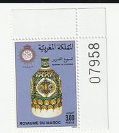Maroc. Coin Numéroté D'un Timbre, Yvert Et Tellier N° 1050 De 1988. Semaine De L'aveugle. - Handicaps