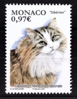 MONACO 2020 -  EXPOSITION FÉLINE INTERNATIONALE - NEUF ** - Monaco