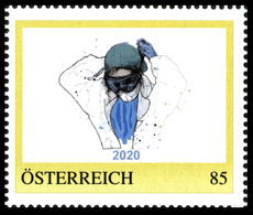 LAST PIECE !!! AUSTRIA OSTERREICH 2020 HEALTH CORONAVIRUS COVID ** PERSONAL STAMP ** MNH ** Only 20 Printed - Disease