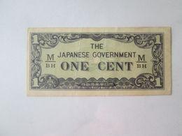 Malaya 1 Cent 1942 Banknote Japanese Occupation WWII - Malaysia