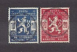 Czechoslovakia 1918 Gest.⊙ Mi. I.-II. Scout Skauten Pfadfinder Ausgabe Tschechoslowakei. C4 - Gebraucht