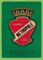Lisboa - Porto - Calendário De 1964 Da Companhia De Seguros Metropole - Publicidade - Calendar - Insurance - Calendari