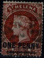 SAINT HELENA 1863 QUEEN VICTORIA MI No 3 USED VF!! - Isola Di Sant'Elena