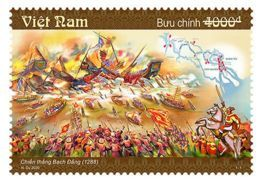 Block 4 Of Vietnam Viet Nam MNH Perf Stamps 2020 : 132th Ann. Of Bach Dang Victory Against China / Horse / Flag (Ms1125) - Vietnam