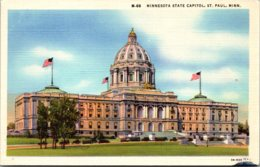 Minnesota St Paul State Capitol Building Curteich - St Paul