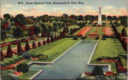Minnesota Minneapolis-St Paul Sunset Memorial Park Curteich - St Paul